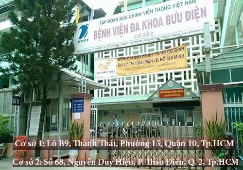 Bệnh viện Đa khoa Bưu điện tổ chức khám chữa tại hai cơ sở chính