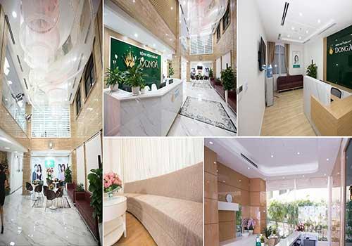 Cơ sở phòng ốc khang trang của bệnh viện thẩm mỹ Đông Á