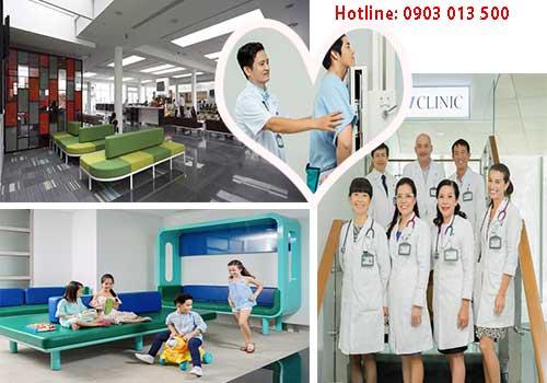 Không gian phòng khám hiên đại với dịch vụ y tế chất lượng